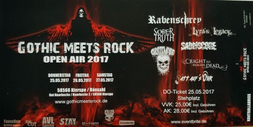 gothic meets rock festival ticket