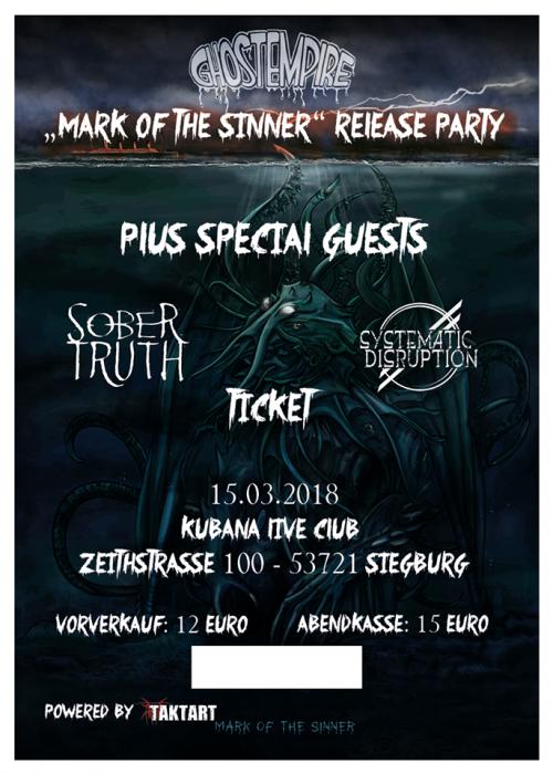 Ticket CD Release Party Ghost Empire Kubana Siegburg