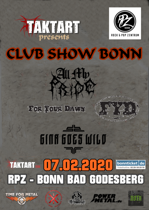 flyer Club Show Bonn 07.02.20